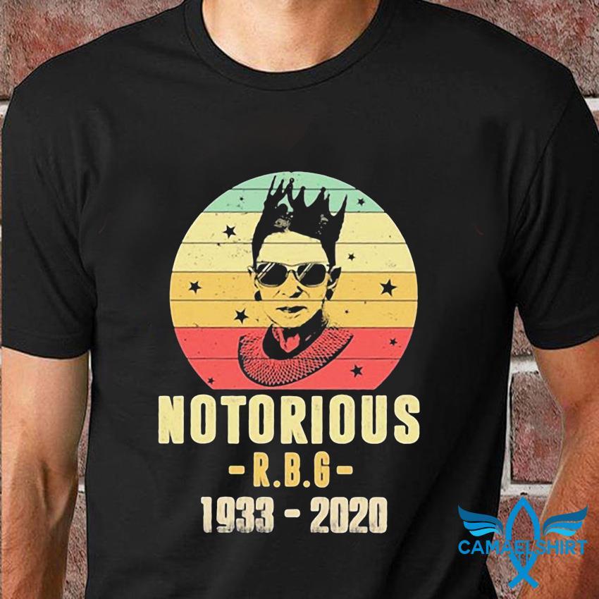 1933-2020 Notorious RBG Ruth Bader Ginsburg t-shirt