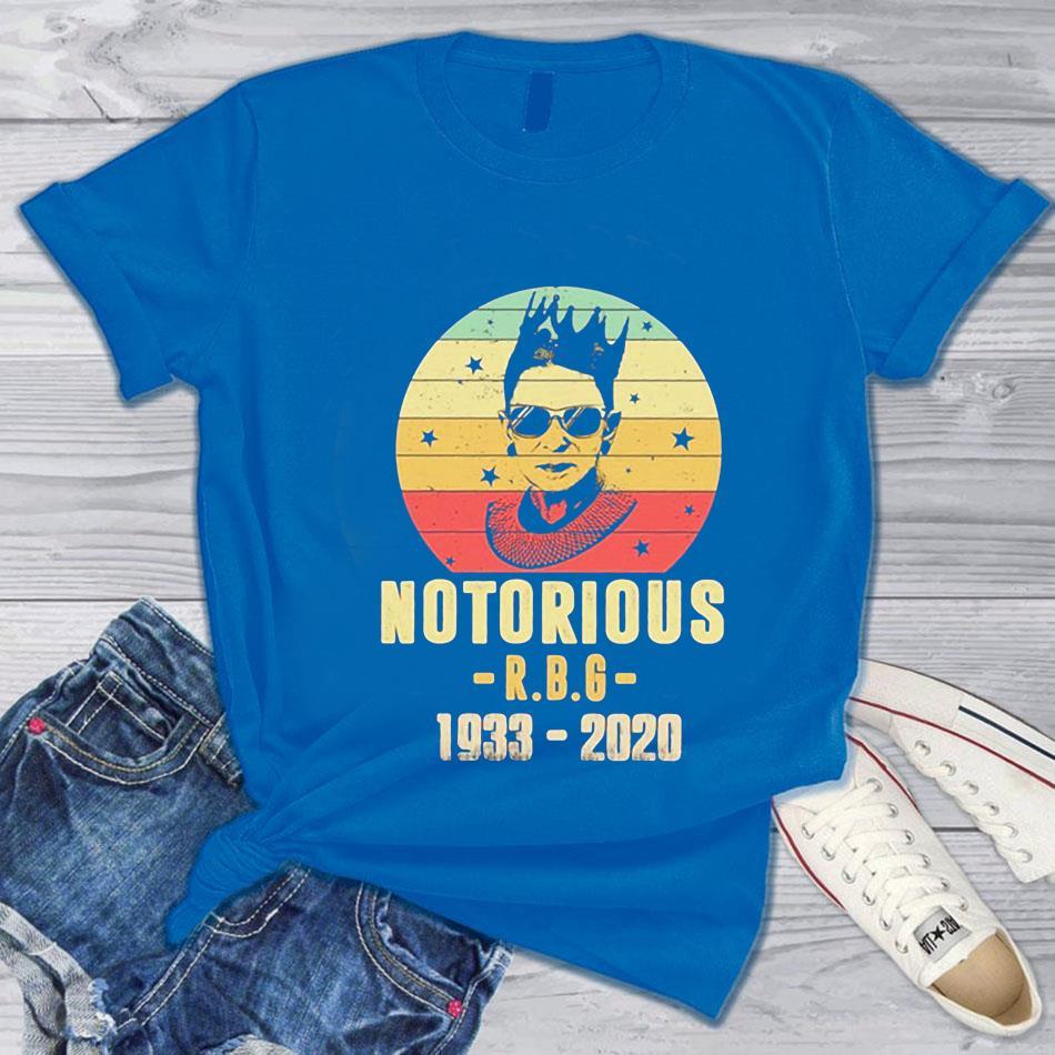 1933-2020 Notorious RBG Ruth Bader Ginsburg t-s blue