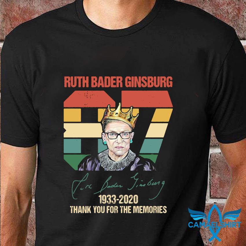 87 Ruth Bader Ginsburg vintage memories t-shirt