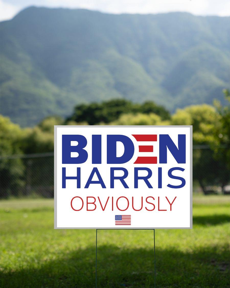 Biden Harris 2020 Obviously yard side 2 sided