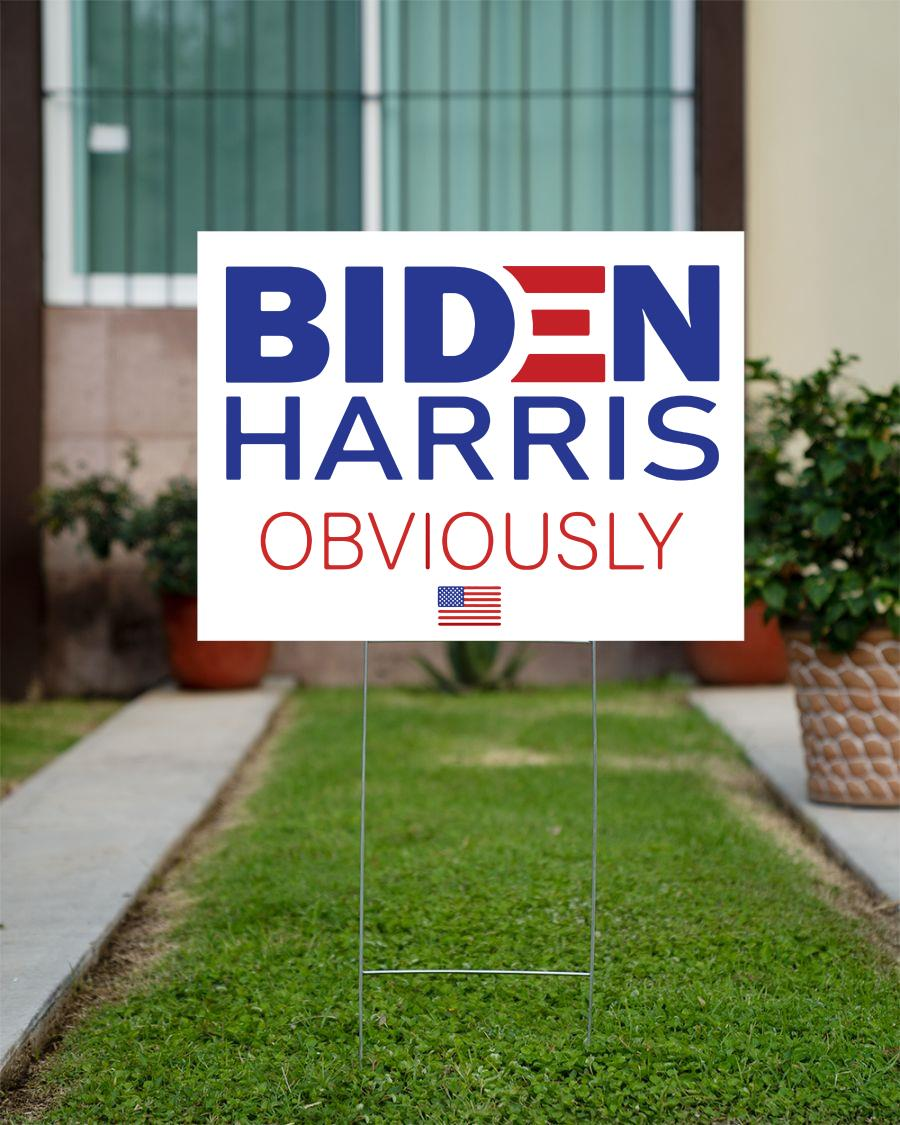 Biden Harris 2020 Obviously yard side official