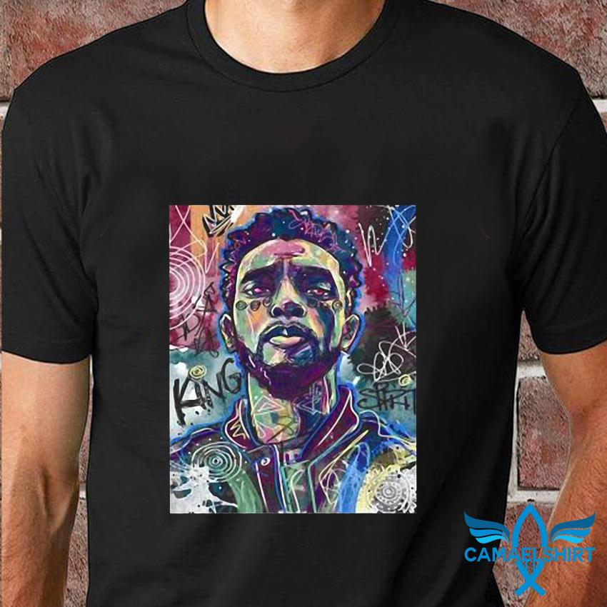 Chadwick Boseman poster Black Panther rest in peace t-shirt