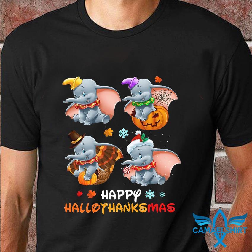 Dumbo Halloween happy hallothanksmas t-shirt