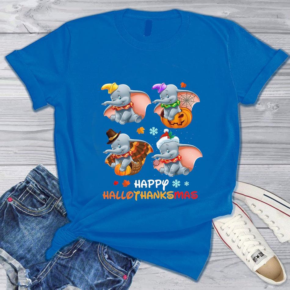 Dumbo Halloween happy hallothanksmas t-s blue