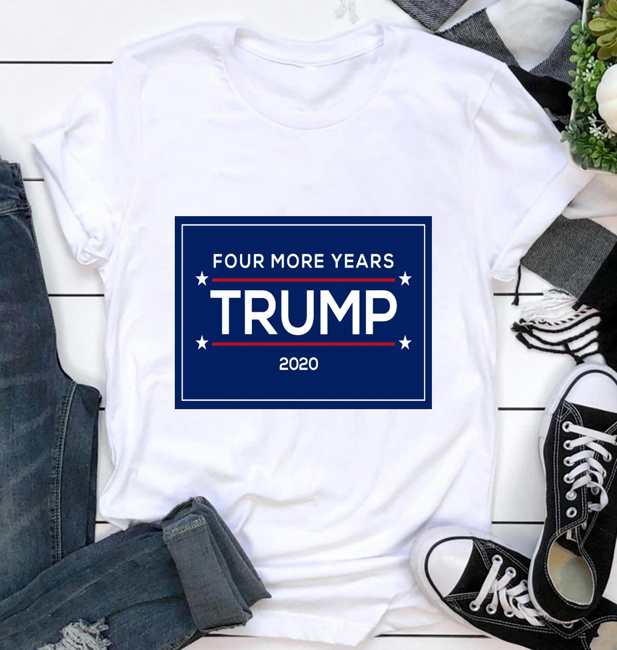 Four more years Trump 2020 supporters yard side ca