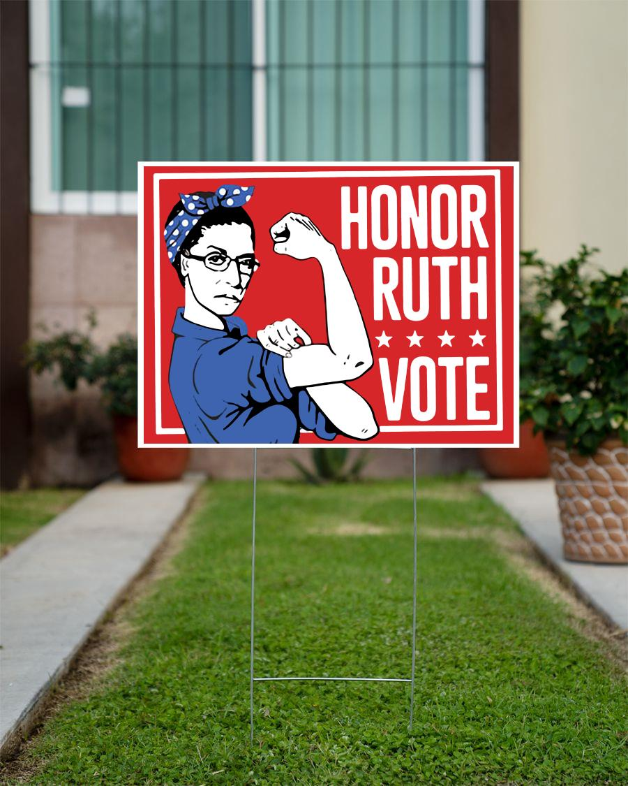 Honor ruth vote yard sign
