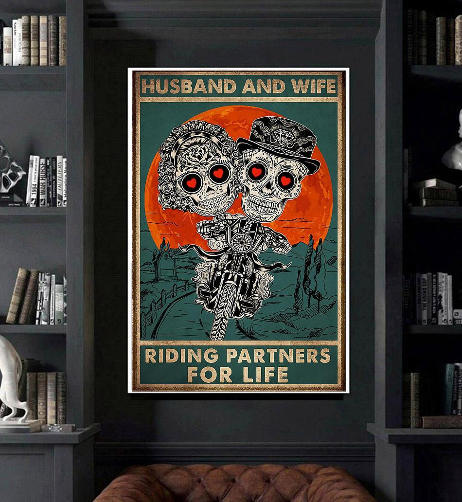 Husband and wife riding partners for life poster art