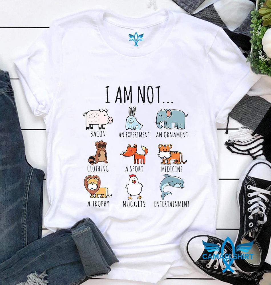 I am not animals are friends vegan life vegetarian t-shirt