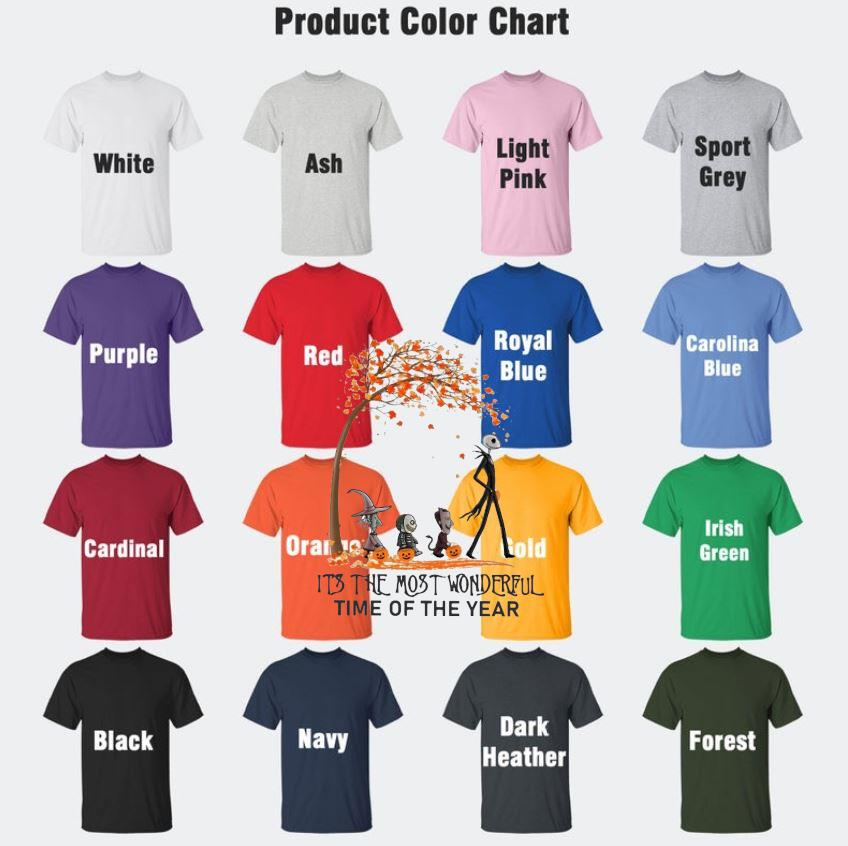 Jason Vampire its the most wonderful time of the year halloween t-s Camaelshirt Color chart