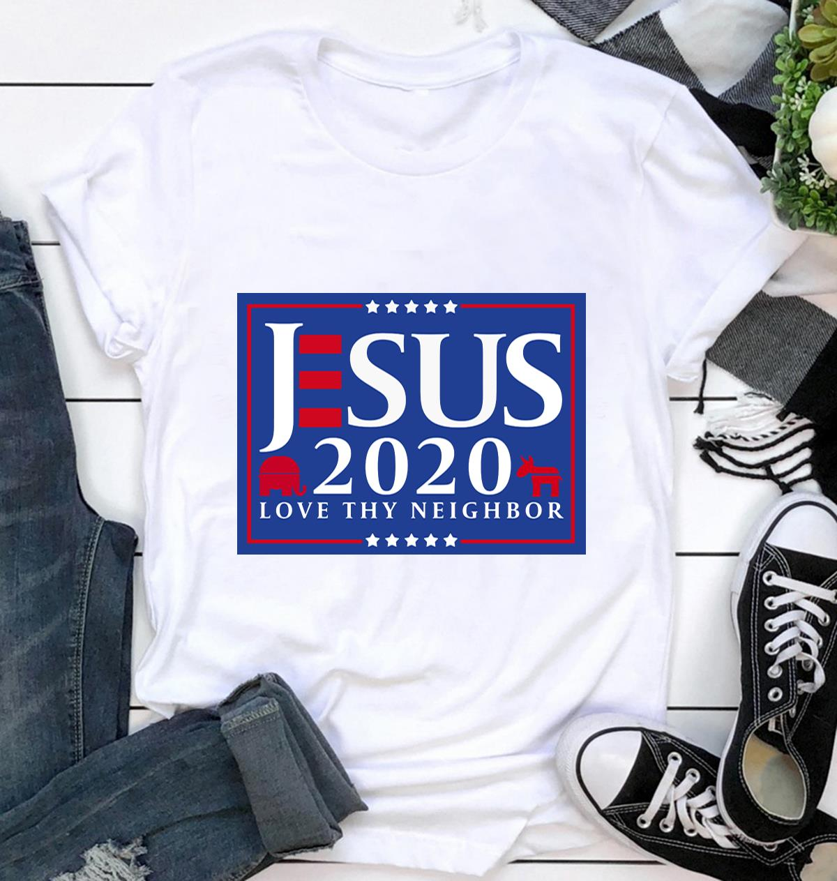 Jesus 2020 love thy neighbor yard side ca