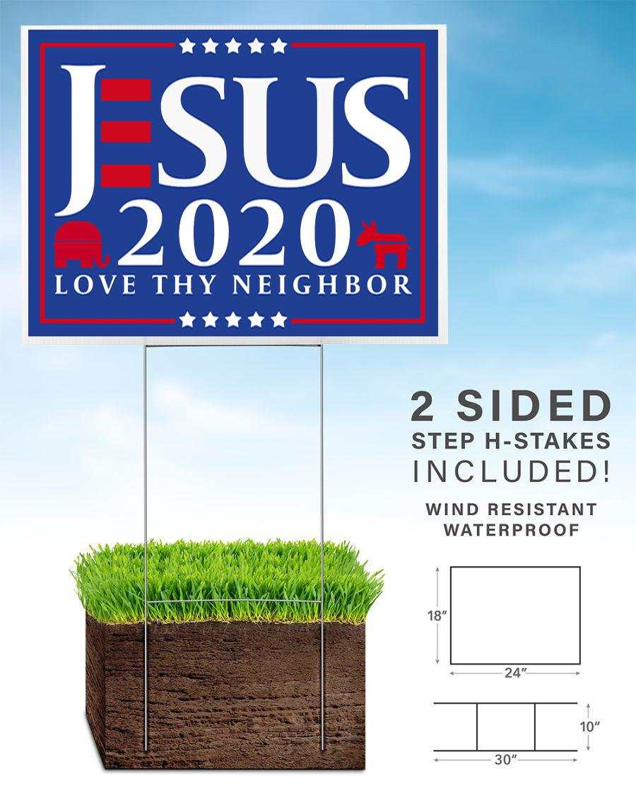 Jesus 2020 love thy neighbor yard side home