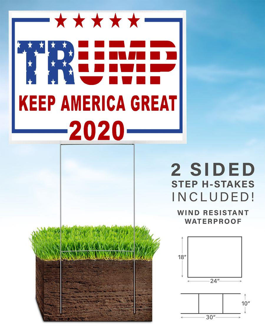 Keep America great flag lawn sign