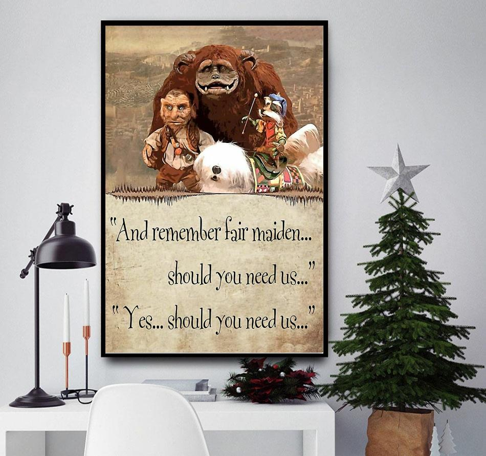 Labyrinth and Remember Fair Maiden poster canvas