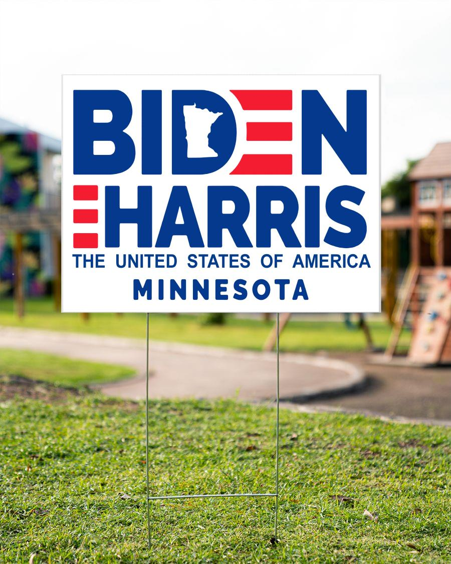 Minnesota for Biden Harris 2020 yard side
