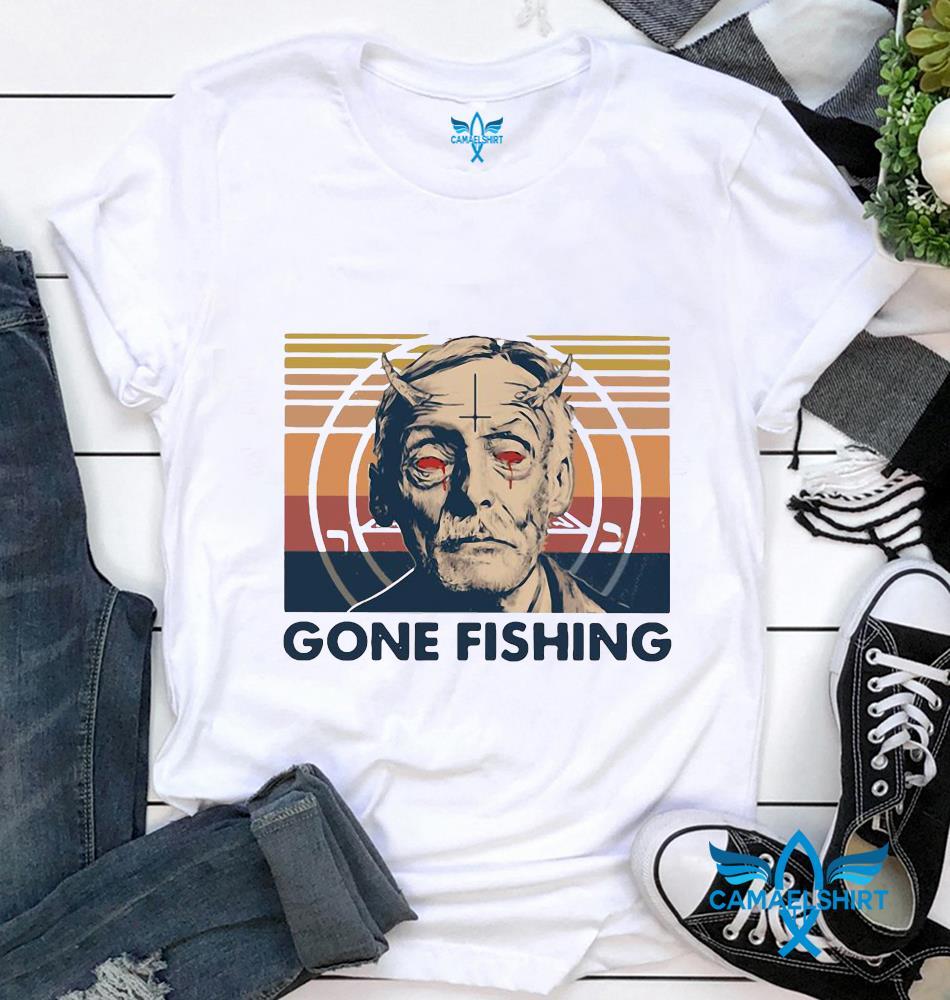 Mortimer Whitehouse true crime gone fishing vintage t-shirt