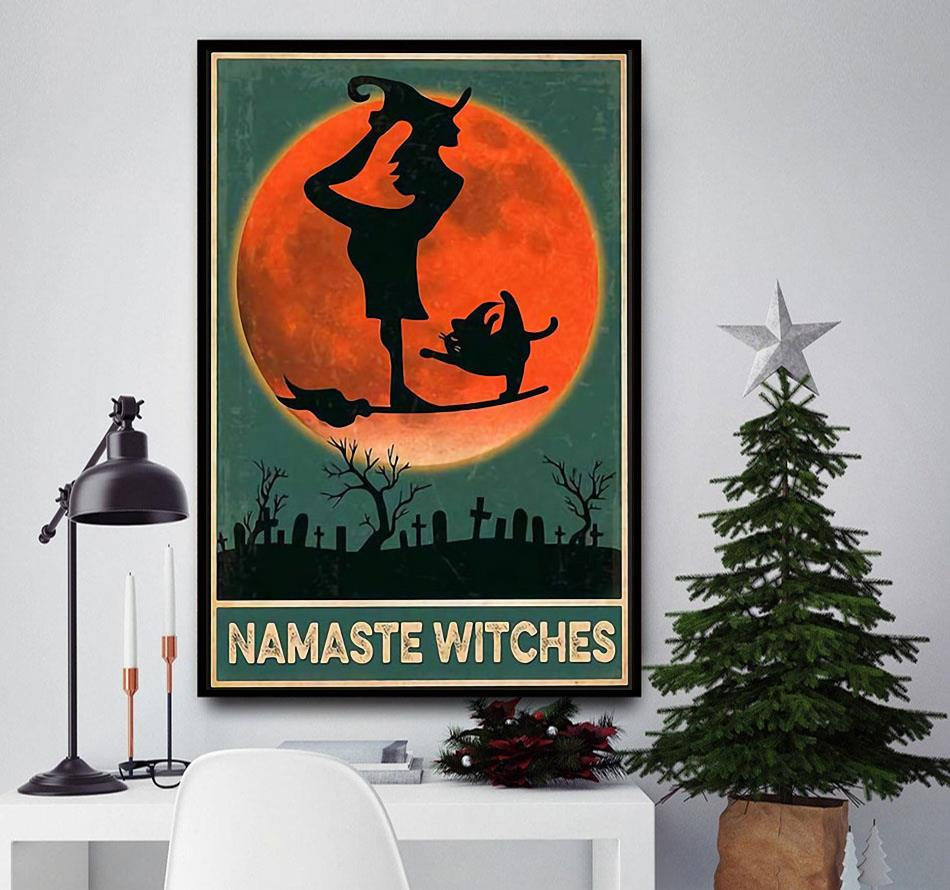 Namaste Witches vintage poster canvas