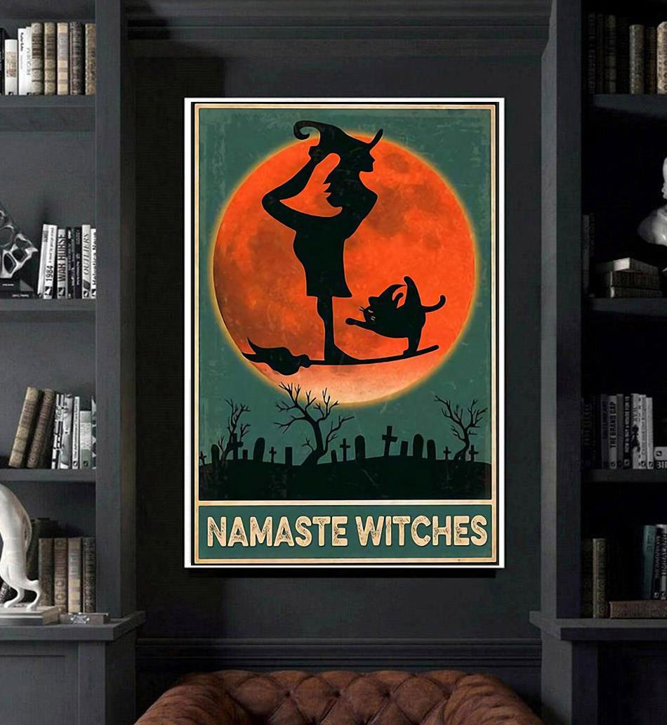Namaste Witches vintage poster canvas art