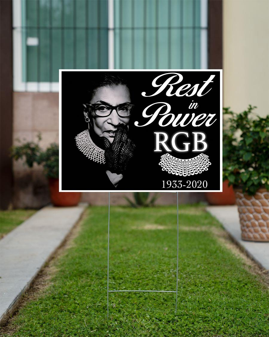 Rest in power RBG 1933-2020 yard sign