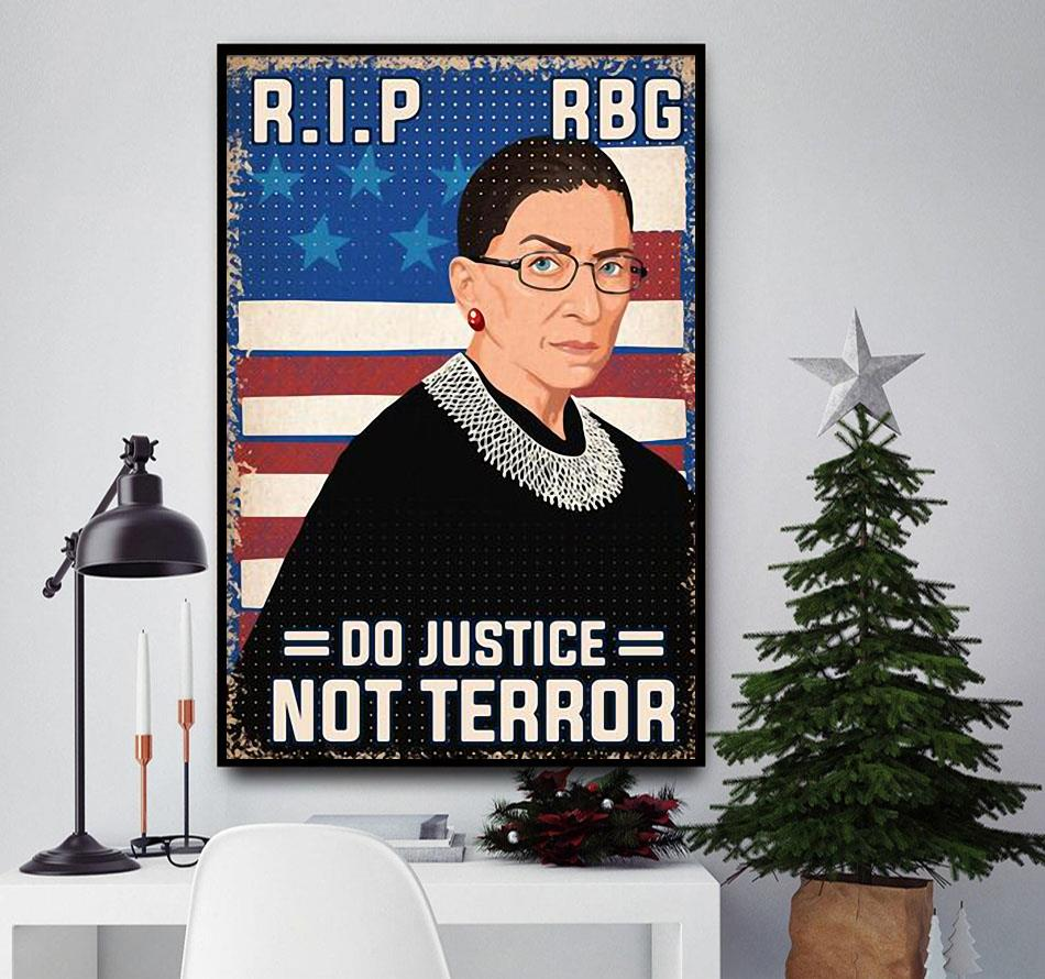 RIP RBG do justice not terror poster