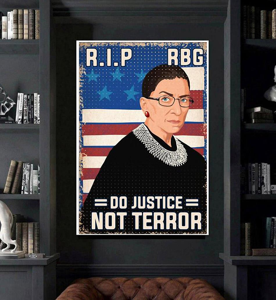RIP RBG do justice not terror poster art