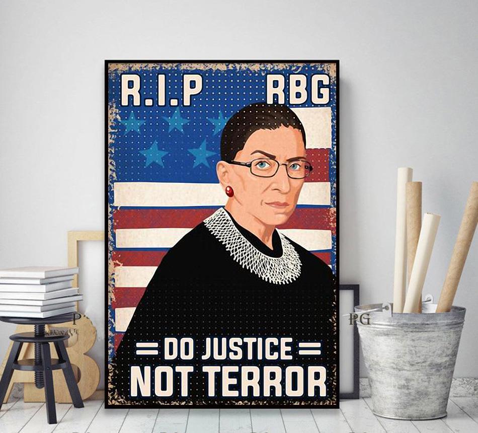 RIP RBG do justice not terror poster decor art