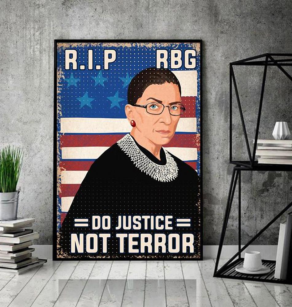 RIP RBG do justice not terror poster decor