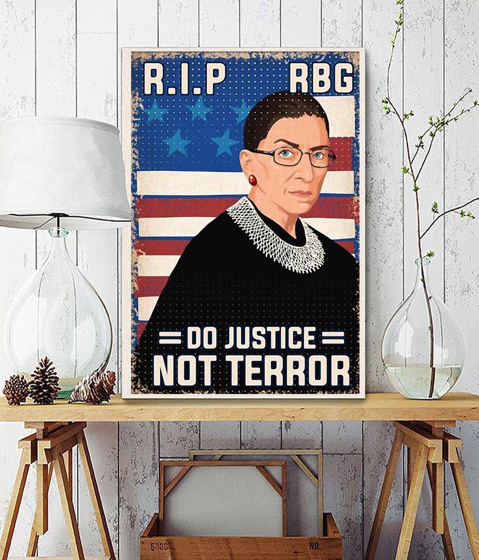RIP RBG do justice not terror poster wall decor