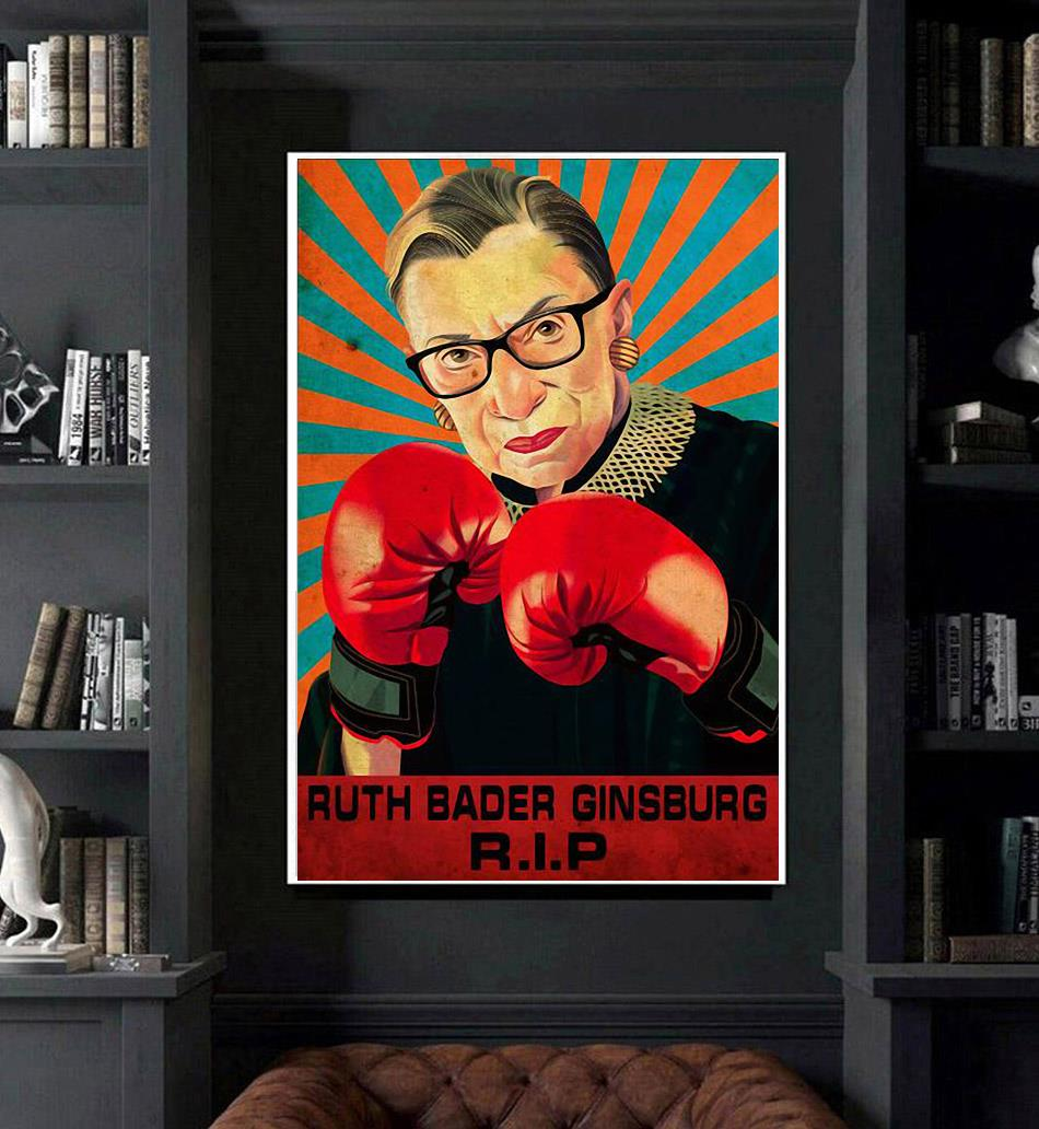 RIP RBG fight for the things you care about poster art