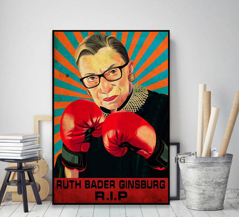 RIP RBG fight for the things you care about poster decor art