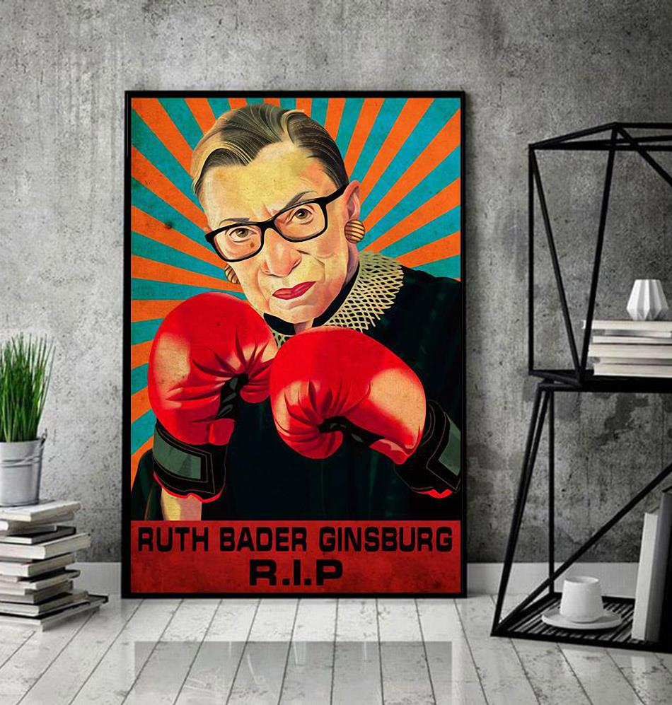 RIP RBG fight for the things you care about poster decor