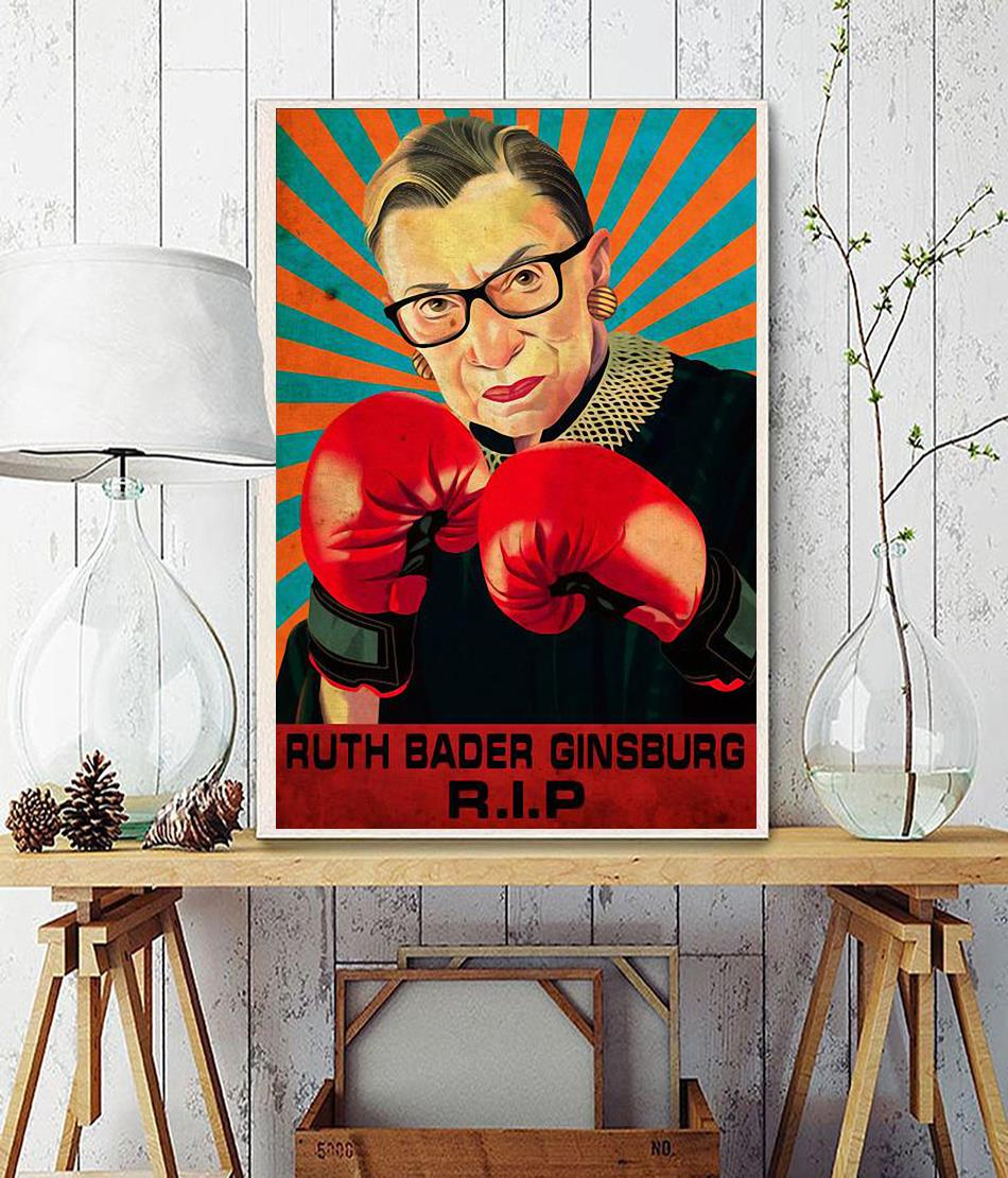 RIP RBG fight for the things you care about poster wall decor
