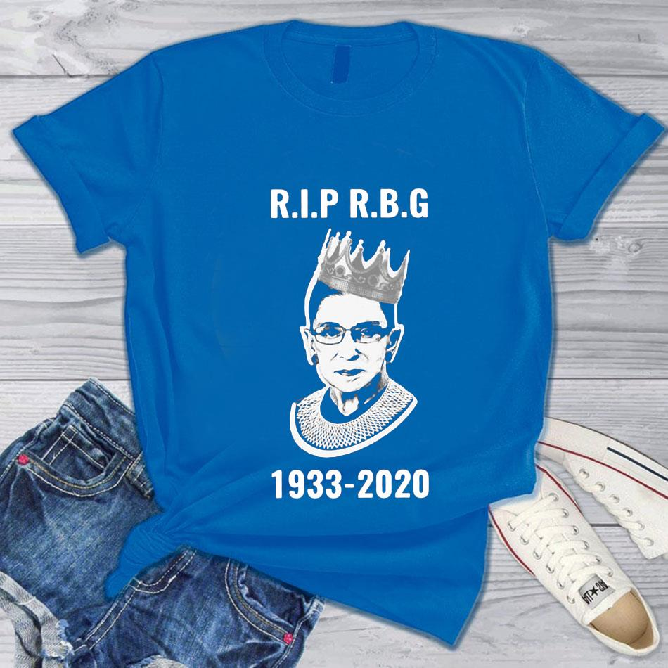 Rip Ruth Bader Ginsburg 1933-2020 women's rights t-s blue