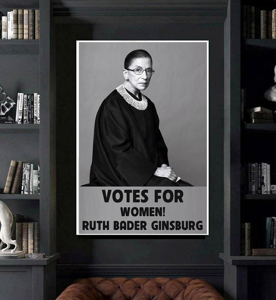 Ruth Bader Ginsburg 1933-2020 votes for women poster poster art
