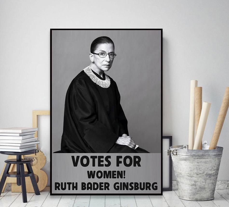 Ruth Bader Ginsburg 1933-2020 votes for women poster poster decor art