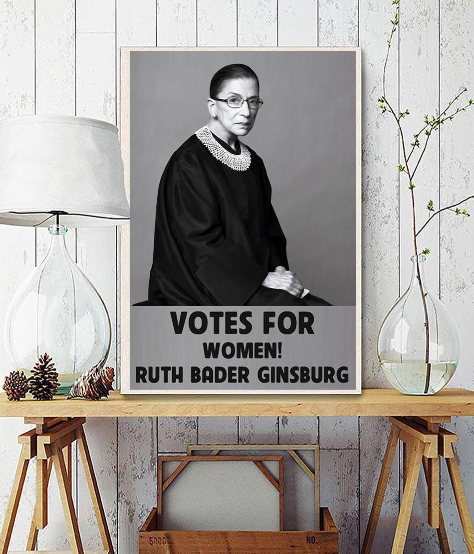Ruth Bader Ginsburg 1933-2020 votes for women poster poster wall decor