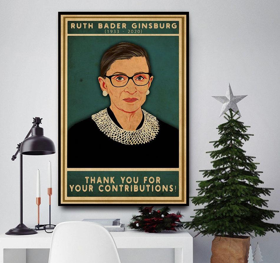 Ruth Bader Ginsburg thank you for your contributions poster