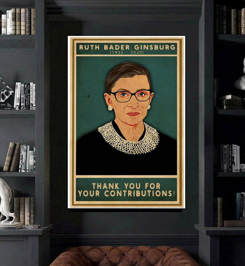 Ruth Bader Ginsburg thank you for your contributions poster art