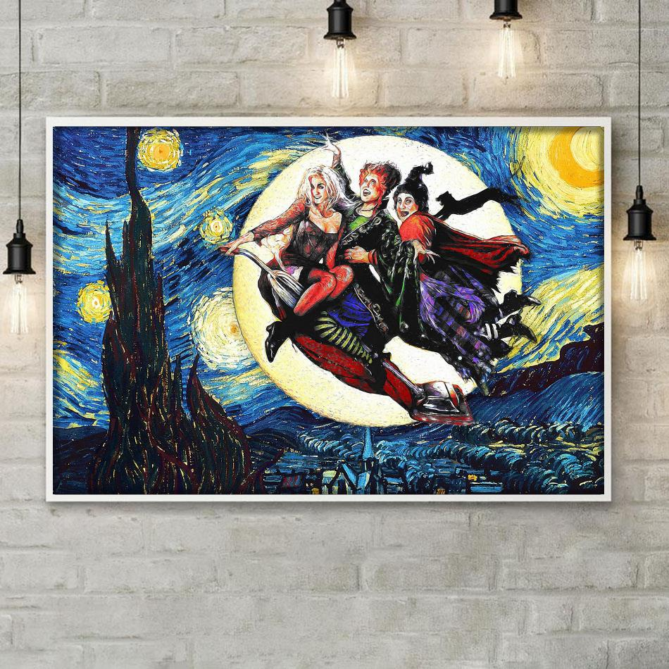 Sanderson Sisters Starry Night poster canvas poster