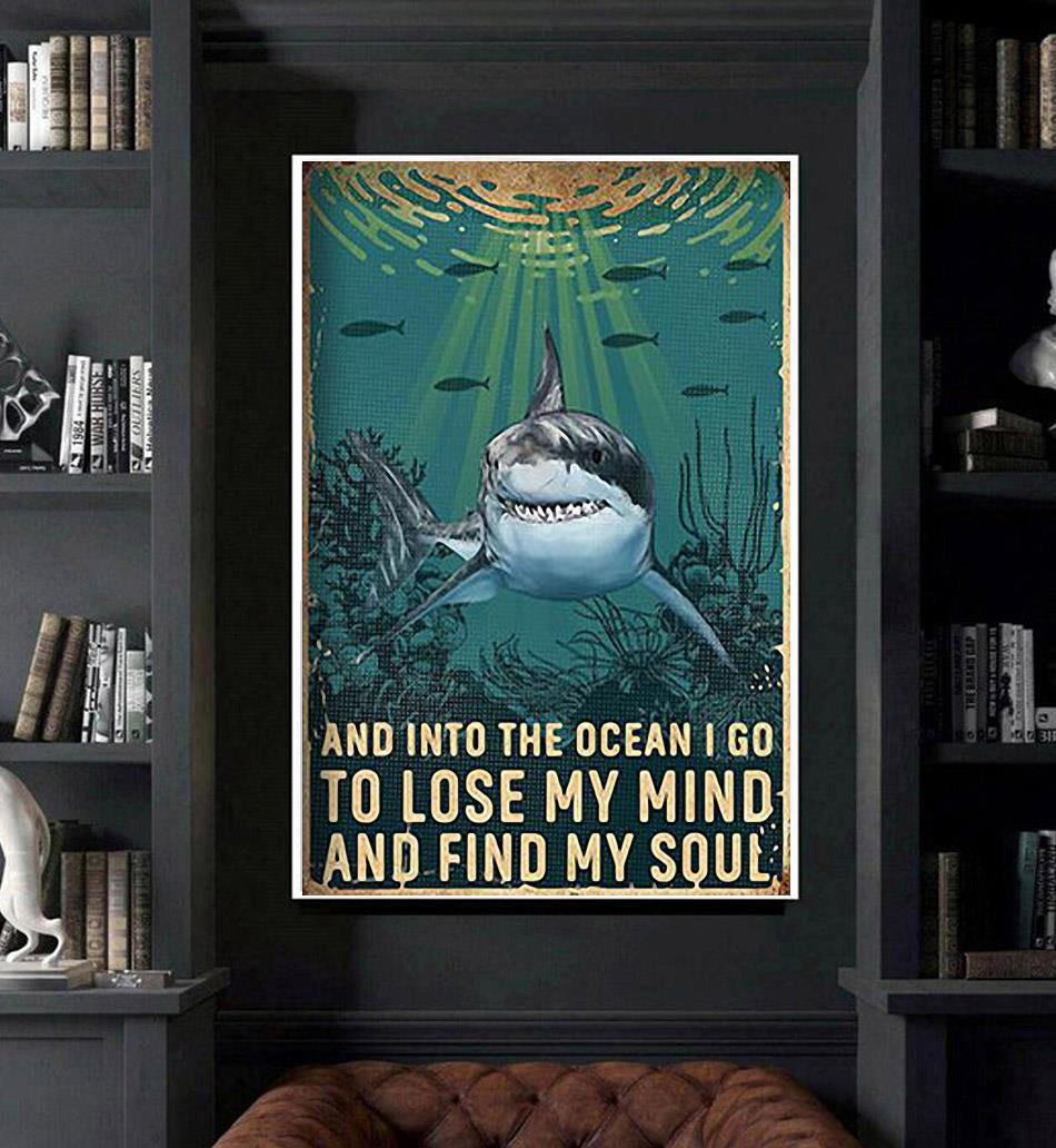 Shark lose your mind find your soul poster art
