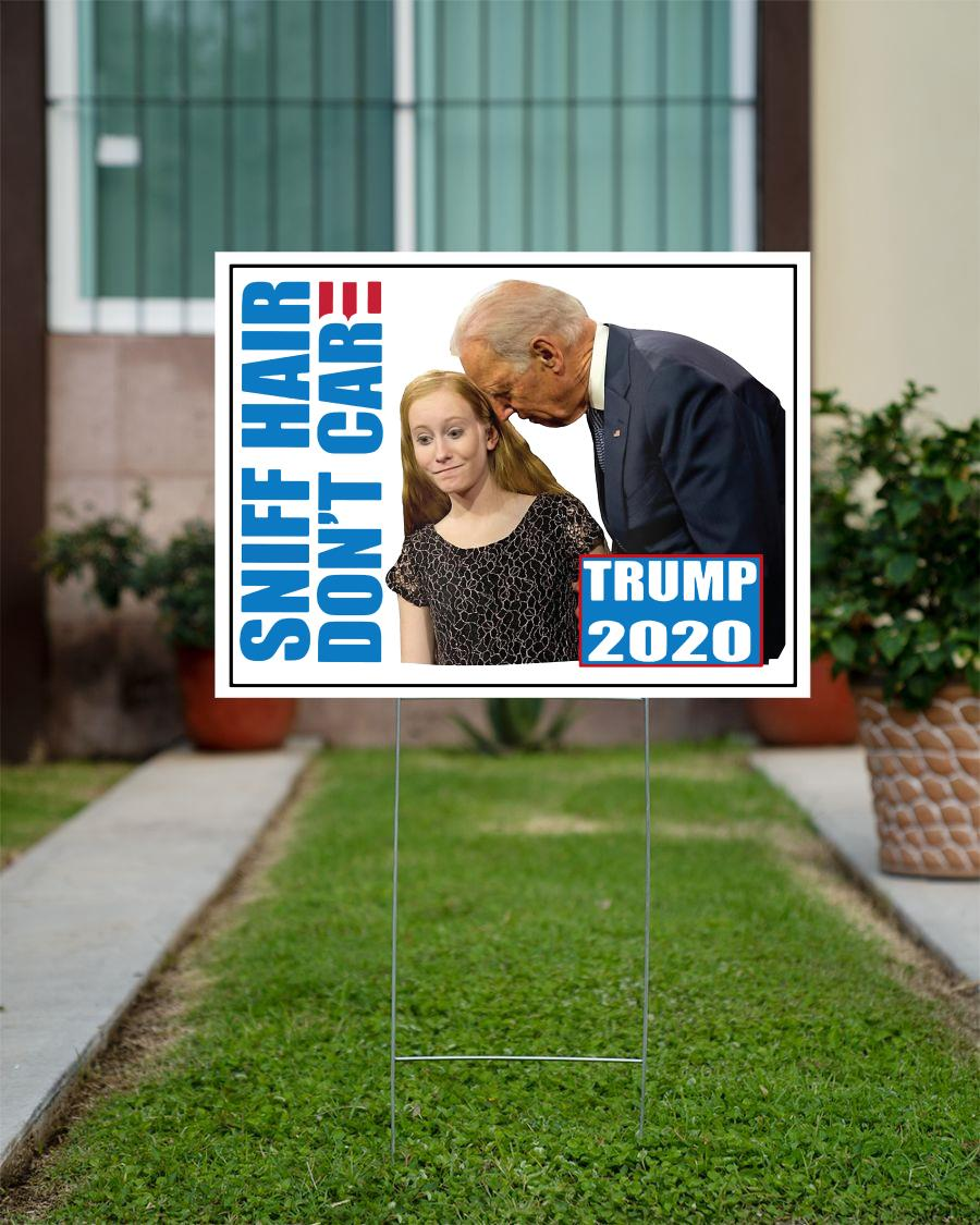 Sniff hair don't care creepy Joe yard sign official