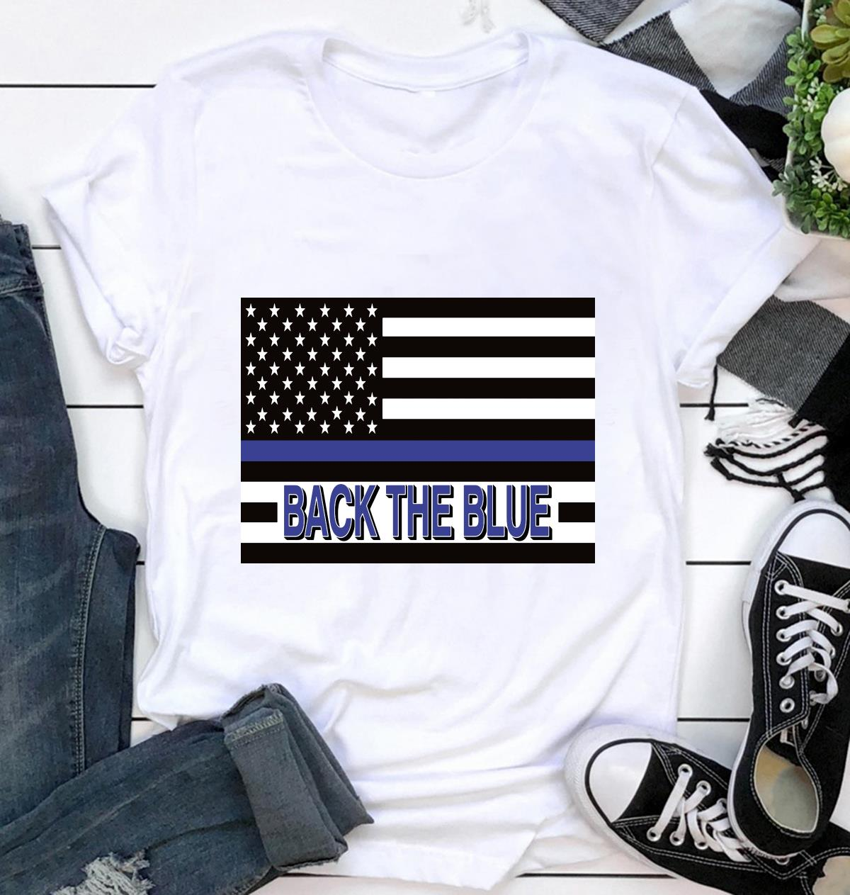 Support Law Enforcement back the blue yard sign ca
