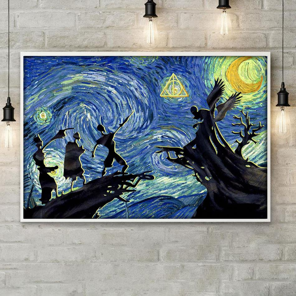 Tale Of Three Brothers Starry Night canvas poster