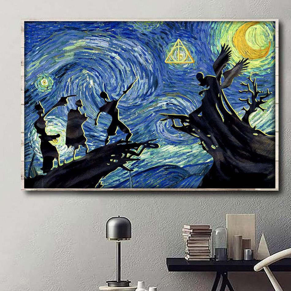 Tale Of Three Brothers Starry Night canvas