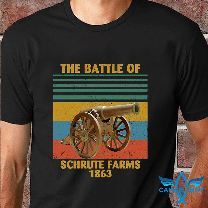 The battle of Schrute Farms 1863 vintage t-shirt