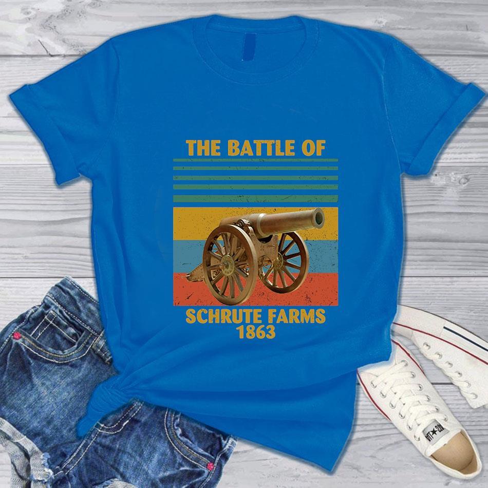 The battle of Schrute Farms 1863 vintage t-s blue