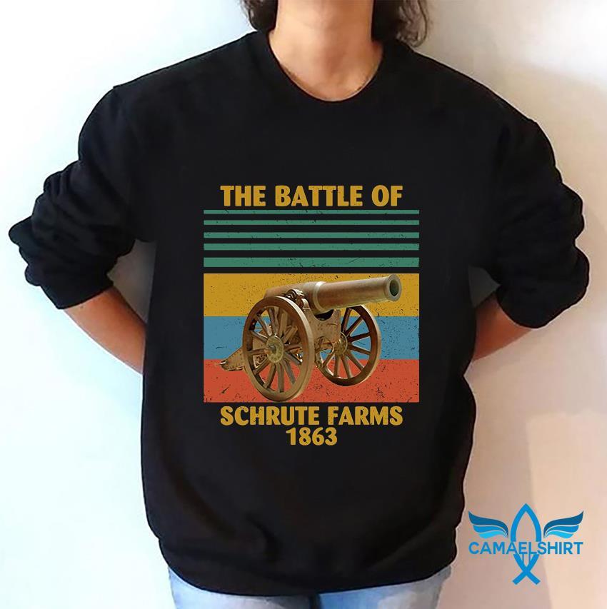 The battle of Schrute Farms 1863 vintage t-s sweatshirt
