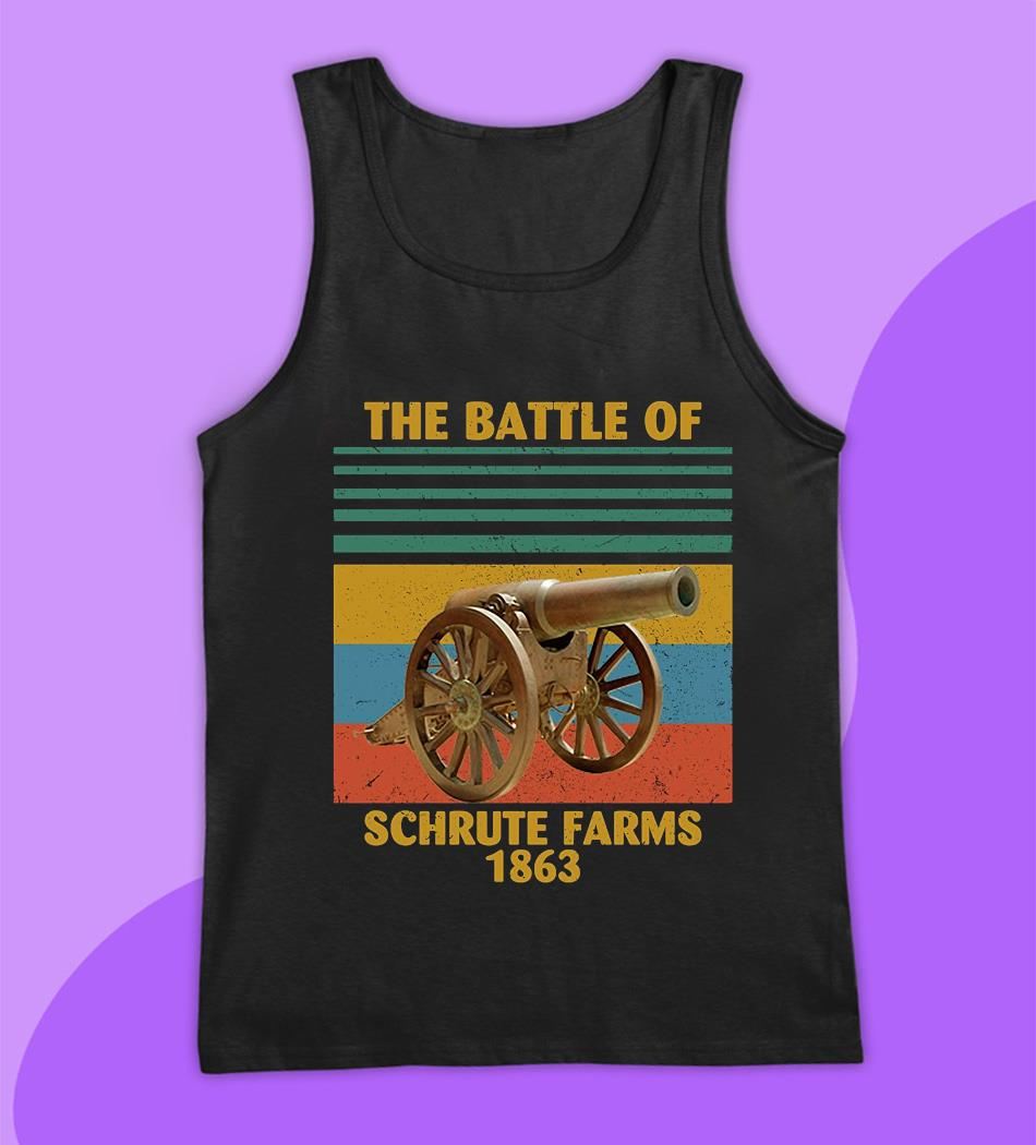The battle of Schrute Farms 1863 vintage t-s tank top