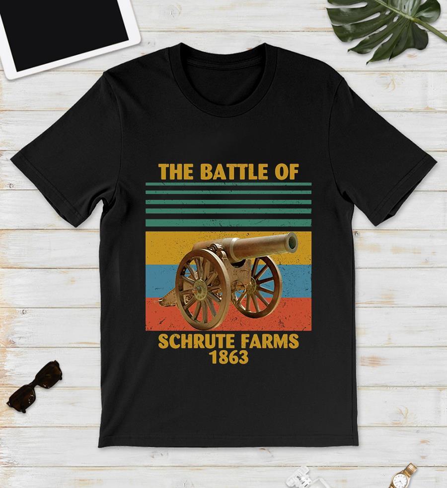 The battle of Schrute Farms 1863 vintage t-s unisex
