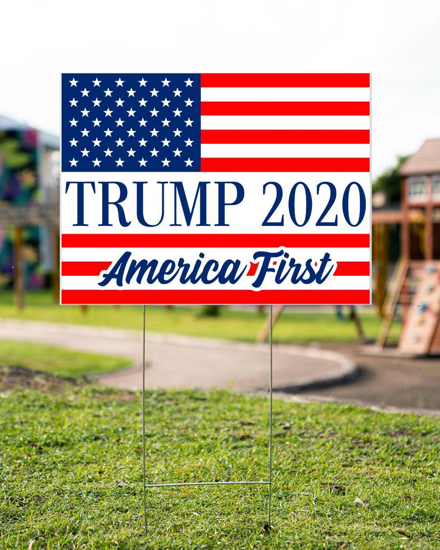 Trump 2020 American first yard side