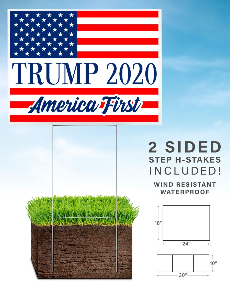 Trump 2020 American first yard side home